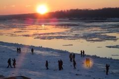 дунав-русе-зима-залез